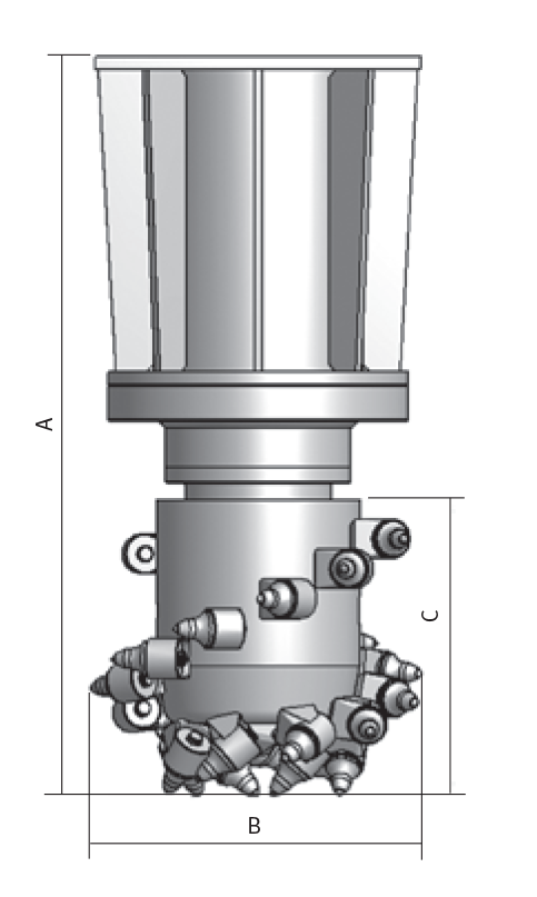 Longitudinal drum cutters- diagram